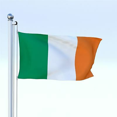 5ft x 3ft Ireland Country National Flags Indoor Outdoor Polyester with Eyelets