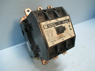 Toshiba C-250E Size 5 Magnetic Contactor 270 Amp 120V Coil 600 Vac 200 HP Sz5