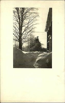 Home & Snow - Madison NH Cancel Real Photo Postcard