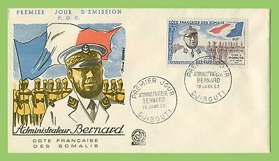 French Somalia 1960 Administrator, Bernard  First Day Cover