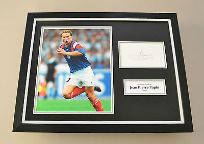 Jean-Pierre Papin Signed Framed 16x12 Photo Autograph Display France Memorabilia