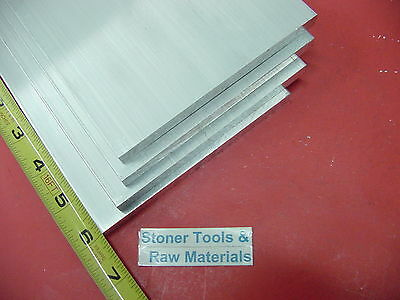 "40 Pieces 1/8"" X 4"" ALUMINUM 6061 FLAT BAR 6"" long .125"" Plate New Mill Stock"