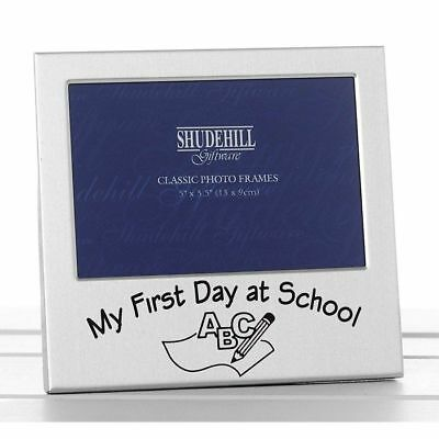 "My First Day At School Gift Present 5"" x 3"" Photo Frame Grandparents Christmas"
