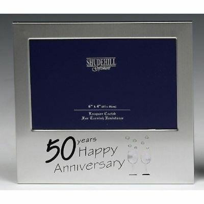 50th Anniversary Golden Photo Picture Frame Gifts Table Decorations Memories