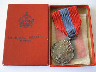 George VI Imperial Service medal to Maud Nichols, cased.