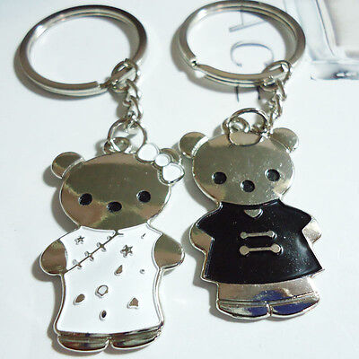 A couple keychain Fashion Metal couples keychains Key Ring for lover F139