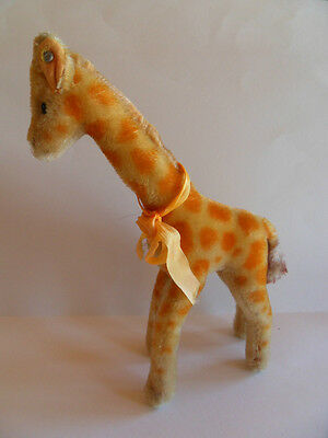 Steiff giraffe, with button, mohair, old,made in Germany 209