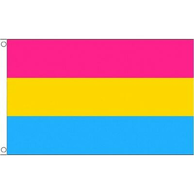 Pansexual Flag 5 x 3 FT - 100% Polyester With Eyelets - Gay Pride Rainbow