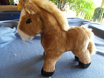 Steiff horse, pony, Cosy Ferdy horse, LARGE! with all ID's, old,Germany 317