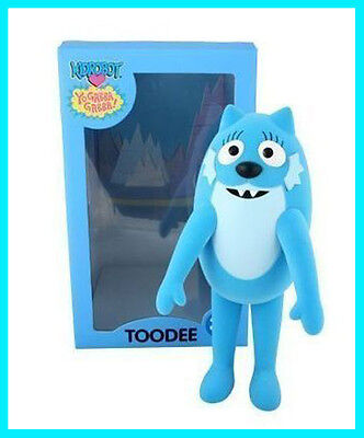 Yo Gabba Gabba * Toodee * Limited Edition Kidrobot Flocked Vinyl Toy Sold Out!