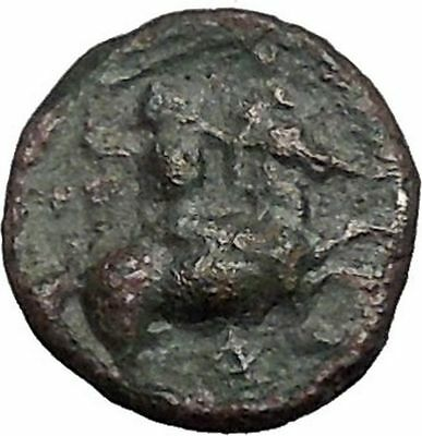 PHARSALOS in THESSALY 400BC Athena Horse Authentic Ancient Greek Coin i49254