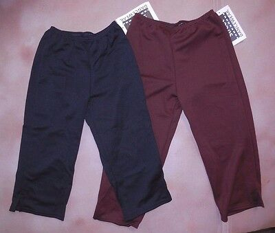 NEW Black or brown CAPRI DANCE PANTS child/adult costuming polyester knitnotch