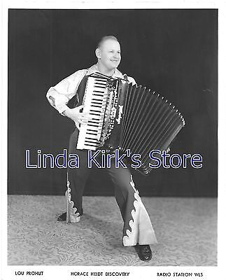 Lou Prohut Promotional Photograph Player Polka Rounders Radio Station WLS