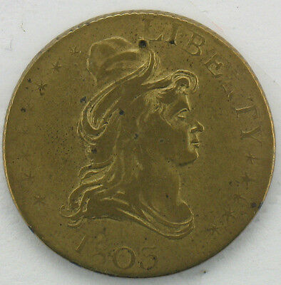 1803 Half Eagle Gold Pattern Counter Token
