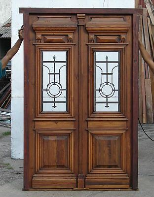 Double Front Door with amazing wrought iron A1416