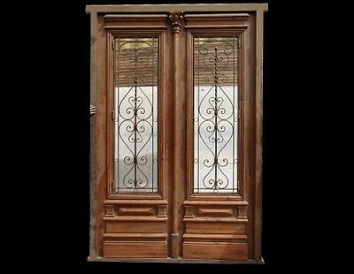 Double Front Door with iron inserts B1427a