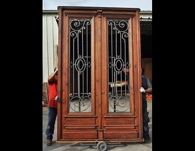 Double door with Wrought iron inserts B1445
