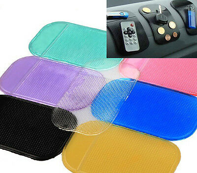 Washable Jelly Silicone Gel Car Dashboard Sticky Phone Pad Mat Nonslip Anti-slip