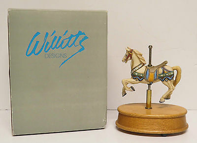 Willitts Designs MAGICAL MOMENTS #7156 Carousel Music Box Plays Carousel Waltz