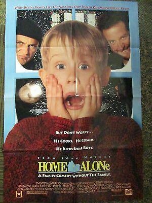 One Sheet Folded Movie Poster-Home Alone- Starring  Culkin and Pesci