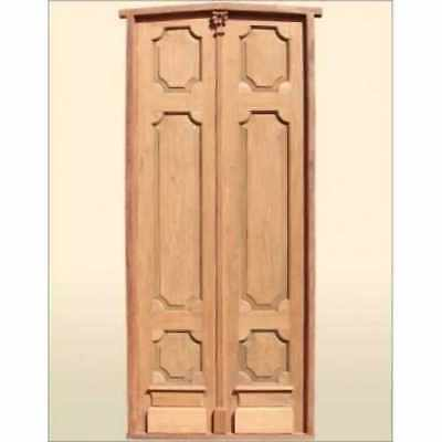 Mahogany Wood Double Entry Door 50 1/4W x 114 1/2H
