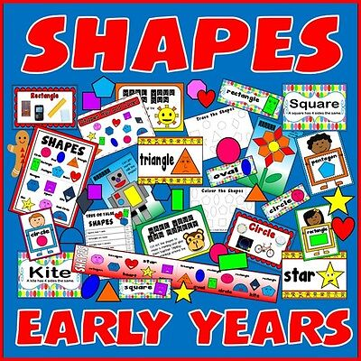 Cd Shapes Teaching Resources Display Posters Maths Numeracy Early Years Ks1-2