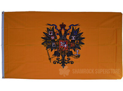 RUSSIA IMPERIAL CZAR FLAG - NEW 5 x 3 FT - RUSSIAN STATE EAGLE 100% POLYESTER