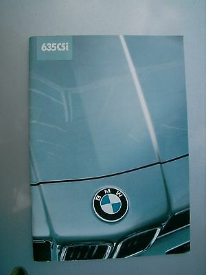 BMW 635CSi 1982-1983 BROCHURE IN FRENCH RARE ITEM  53 Pages great condition