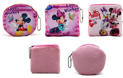 Lot mickey minnie mixed Bag Children Gift Coin Wallets girl Plush Mini Bags 10cm