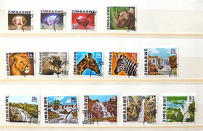 ZIMBABWE 1980 - 14 Values to $2 Incl SCARCE 40c NEW LOWER PRICE SU535