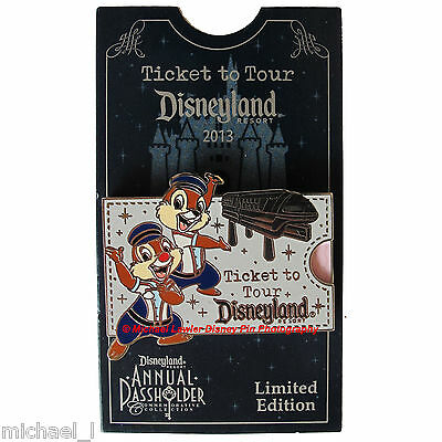 Disney Tour The Lore Chip And Dale Annual Passholder Pin *moc* Ticket Monorail