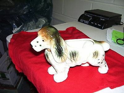 VINTAGE COCKER SPRINGER SPANIEL PLANTER MARKED JAPAN  A BEAUTY! 9 INCHES LONG
