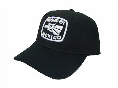 Hecho En Mexico Made In Mx Adjustable Curved Bill Baseball Cap Caps