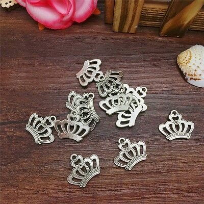NEW Charm 8pcs Queen Crown Tibet Silver Pendant Fit for Bracelet Necklace FP23