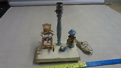 Vintage Dutch animated table lamps childs nursery musical german ??