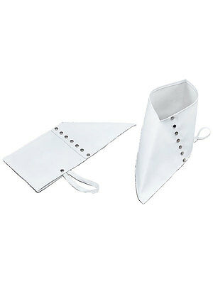 White Deluxe Gangster 1920's Fancy Dress Pimp Spats Adult Mens Mafia Moll Spatz
