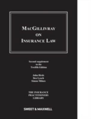 Macgillivray on Insurance Law: 2nd Supplement (Paperback), 9780414034594