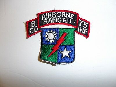 b5633 1980's US Army  Airborne Ranger B Company 75th Infantry CO INF patch