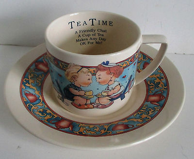 Memories of Yesterday Cup and Saucer Tea Time Lucie Attwell