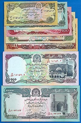 Afghanistan SET-9 P-55,57,58,60,61,62,63 Uncirculated FREE SHIPPING