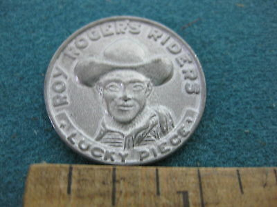 Vintage Roy Roger's Riders Lucky Piece Coin with Trigger on the reverse