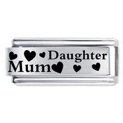 1x Mum & Daughter Daisy Charm 1x Genuine Nomination . Bracelet Link Bundle
