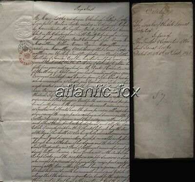 1845 DUMFRIES Discharge to LOCKE Family under Will of James Locke of Maxwelltown