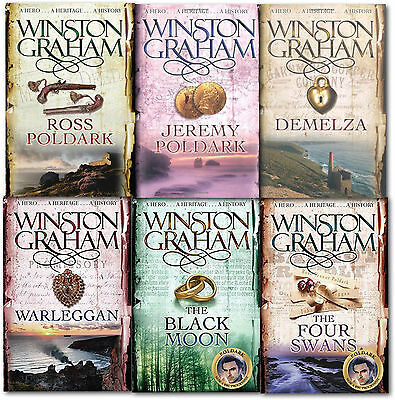 Winston Graham Poldark Series 6 Books Collection Set A Novel of Cornwall 1 TO 6