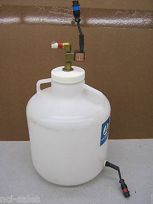 Nalgene 8-0400-07 Carboy 10 Liter W/Float Switch & Asco Solenoid Valve