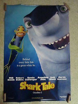 One Sheet Movie Poster Original Rolled Shark Tale Starring Will Smith #129