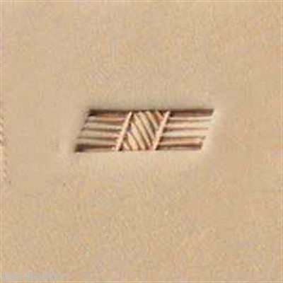 X596 Basketweave Stamp 6596-00 Tandy Leather Craftool Decorate Stamping
