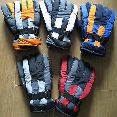 Men Women Adult Winter Sports Motorcycle Warm Thermal Ski Snow Gloves Mittens