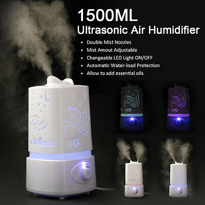 7 Color 1500ML Ultrasonic Air Humidifier Purifier Aroma Diffuser Aromatherapy