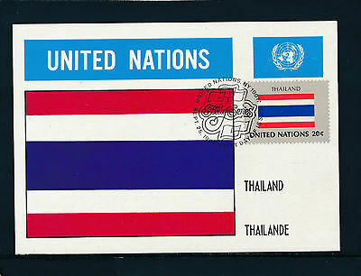 United Nations, Thailand, Flaggen-Karte, Flags   12/5/15